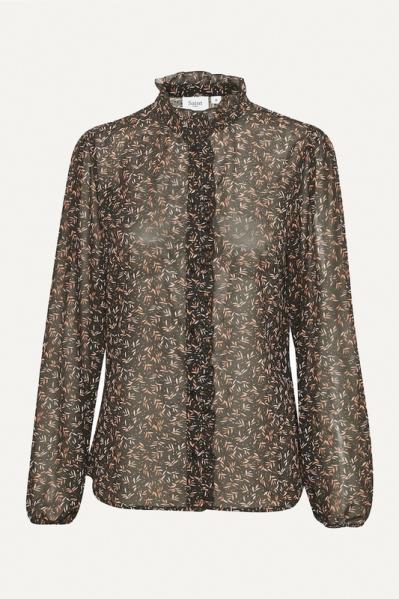 Saint Tropez Blouse Zwart Damara Shirt