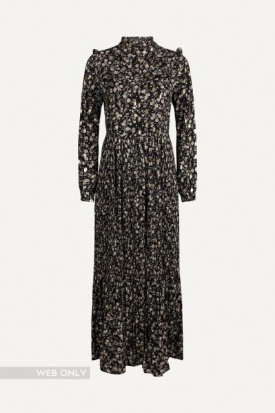 Smashed lemon Maxi-jurken Zwart 20789
