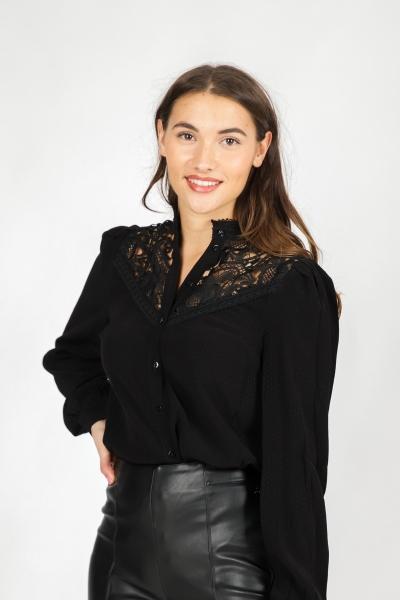 Tramontana Blouse Zwart C09-97-301