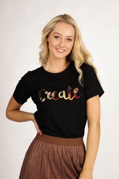 Tramontana Shirt / Top Zwart A02-96-401