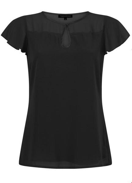 Tramontana Shirt / Top Zwart C25-92-304