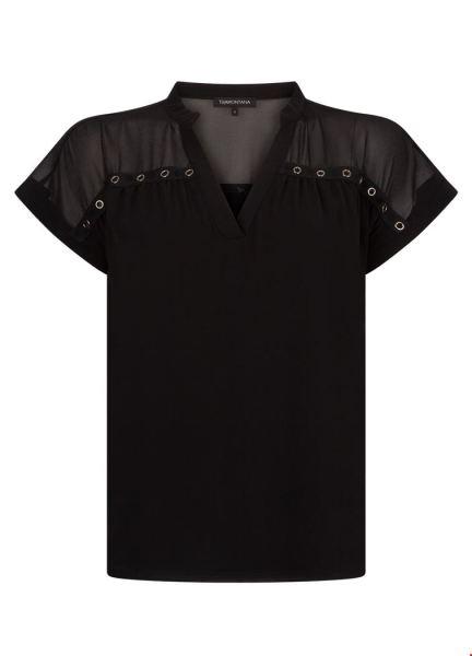 Tramontana Shirt / Top Zwart C25-92-302