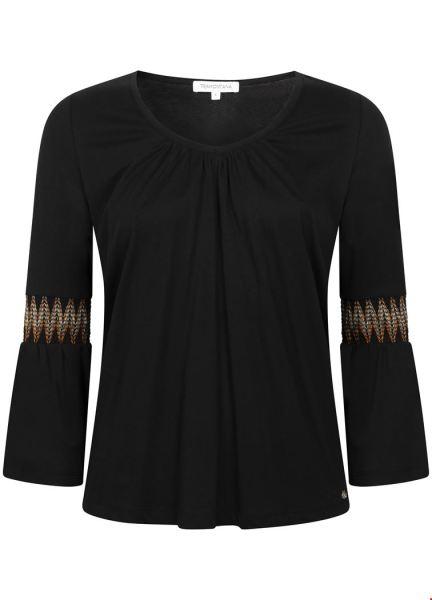 Tramontana Shirt / Top Zwart D14-94-402