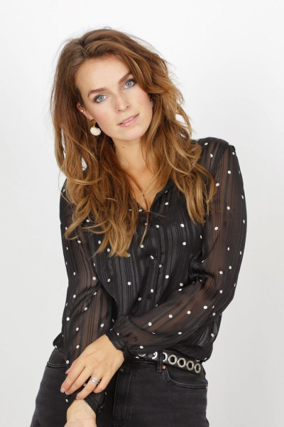 Vila Shirt / Top Zwart 14054058