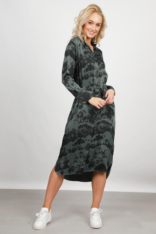 AAIKO Maxi-jurken Groen PALMA TIEDYE