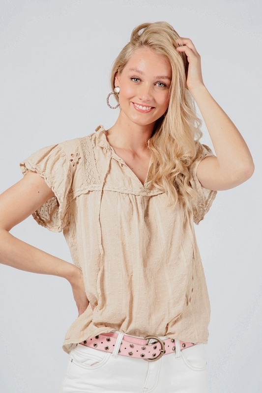 Ambika Shirt / Top Beige K0200