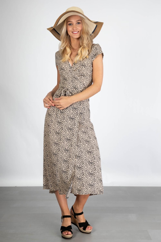 Ambika Maxi-jurken Dierenprint Kris