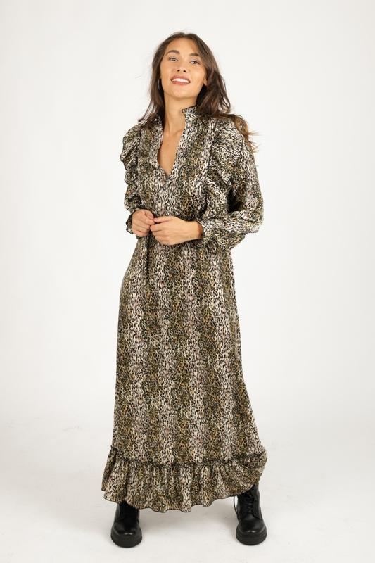 Ambika Maxi-jurken Dierenprint Randa