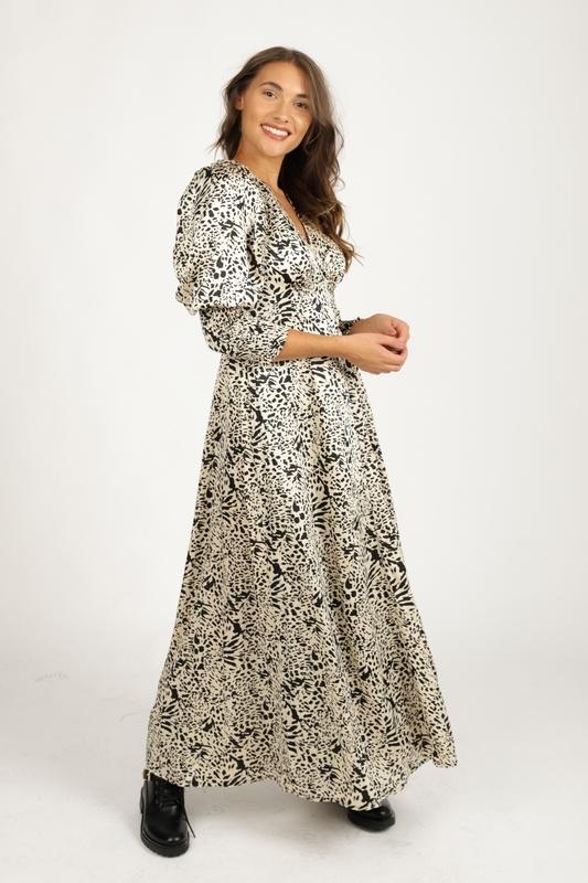 Ambika Maxi-jurk Dierenprint Tawny