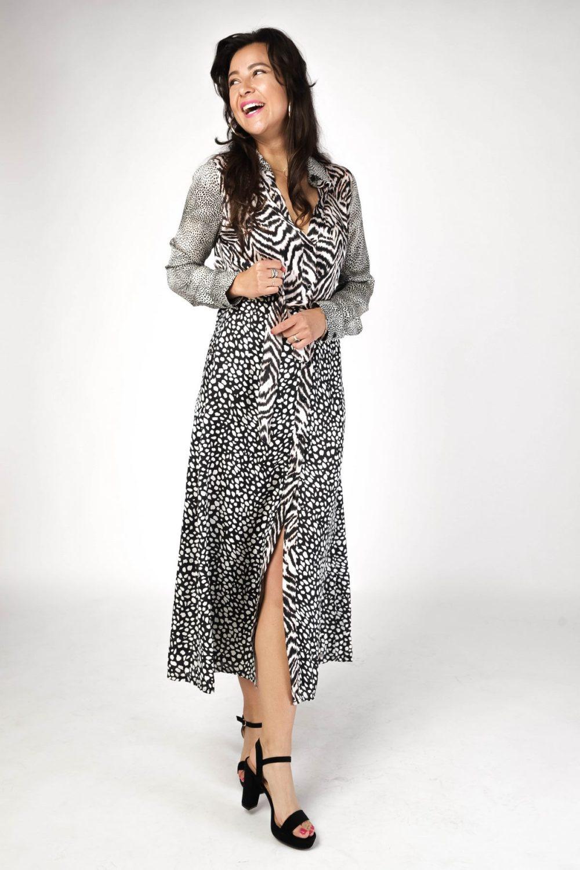 Ambika Maxi-jurken Dierenprint Terri