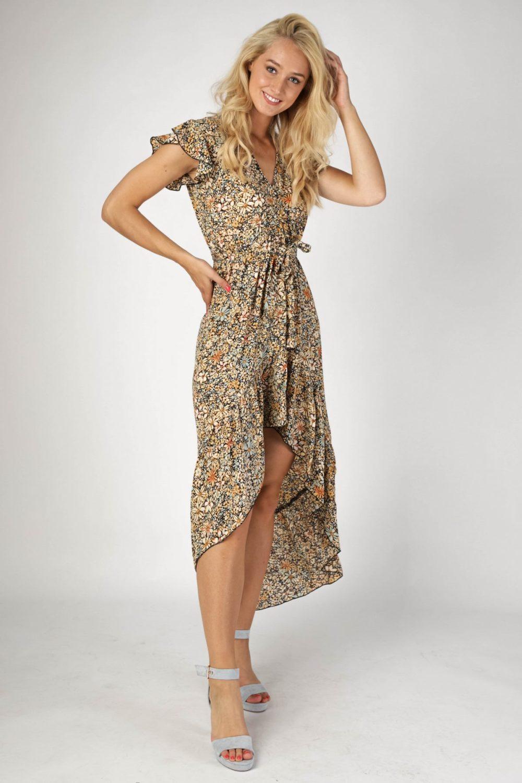 Ambika Maxi-jurken Geel Solistice