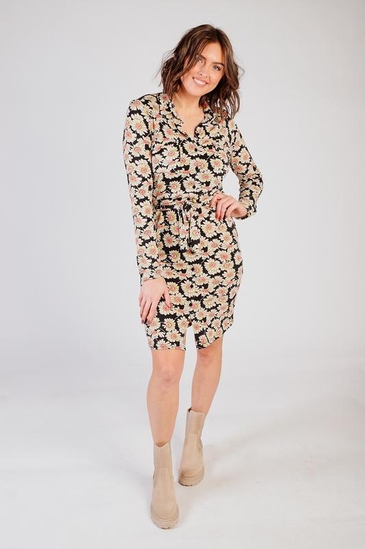 &Co Woman Midi-jurken Multicolor Lotte dress