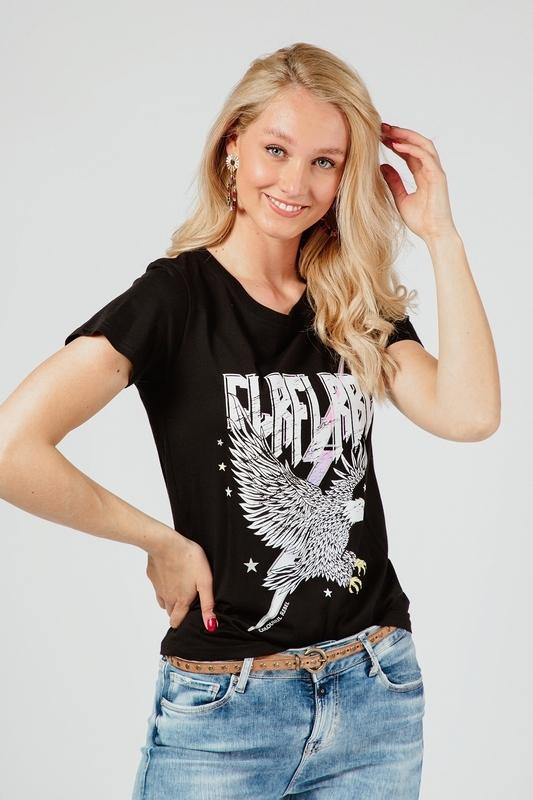 Colourful Rebel Shirt / Top Zwart 10169