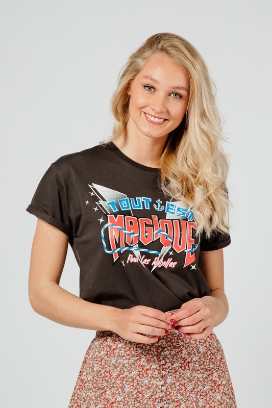 Colourful Rebel Shirt / Top Zwart 10230