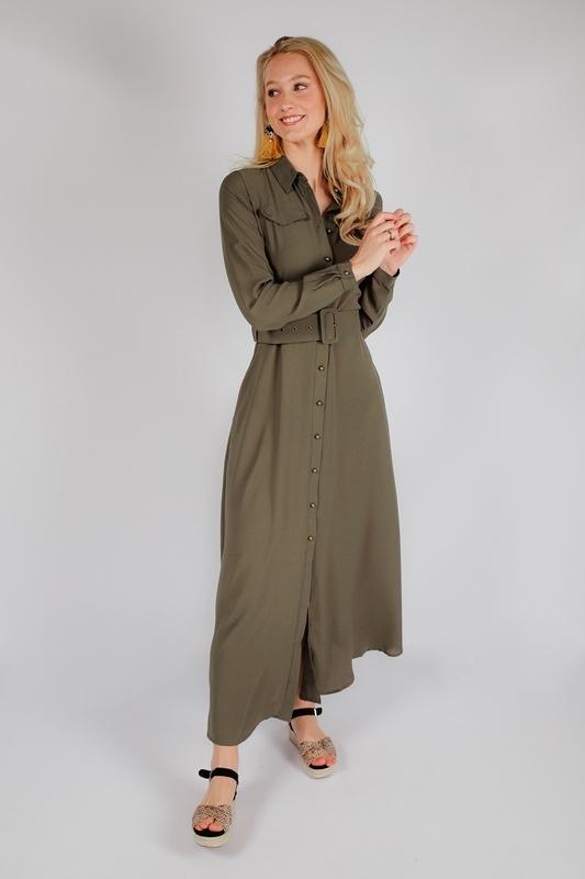 Est'seven Maxi-jurken Groen Rio dress basic