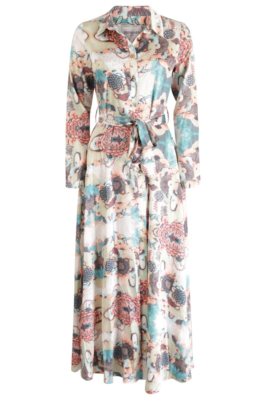 Est'seven Maxi-jurken Multicolor River of Coral Dress