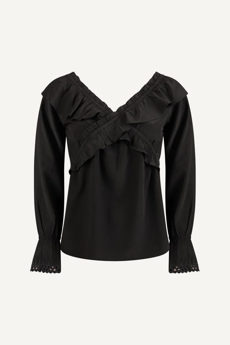 Femme9 Blouse Zwart Sana