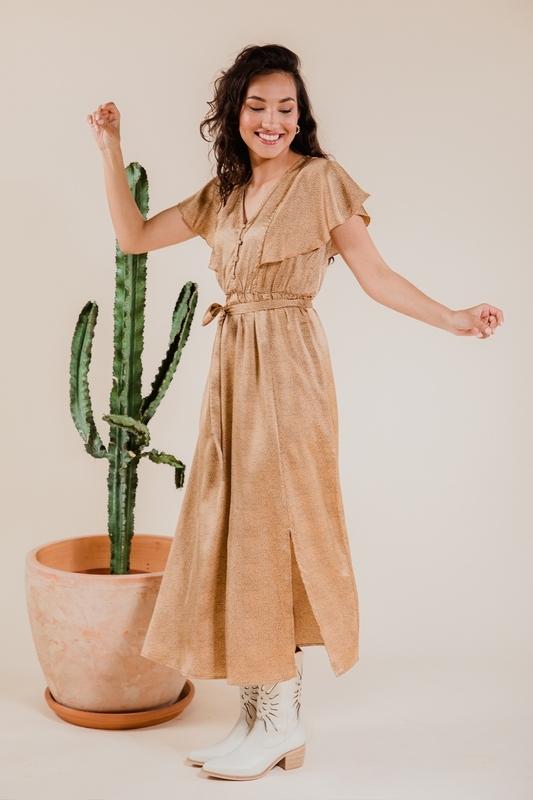 Femme9 Maxi-jurk Beige Angela