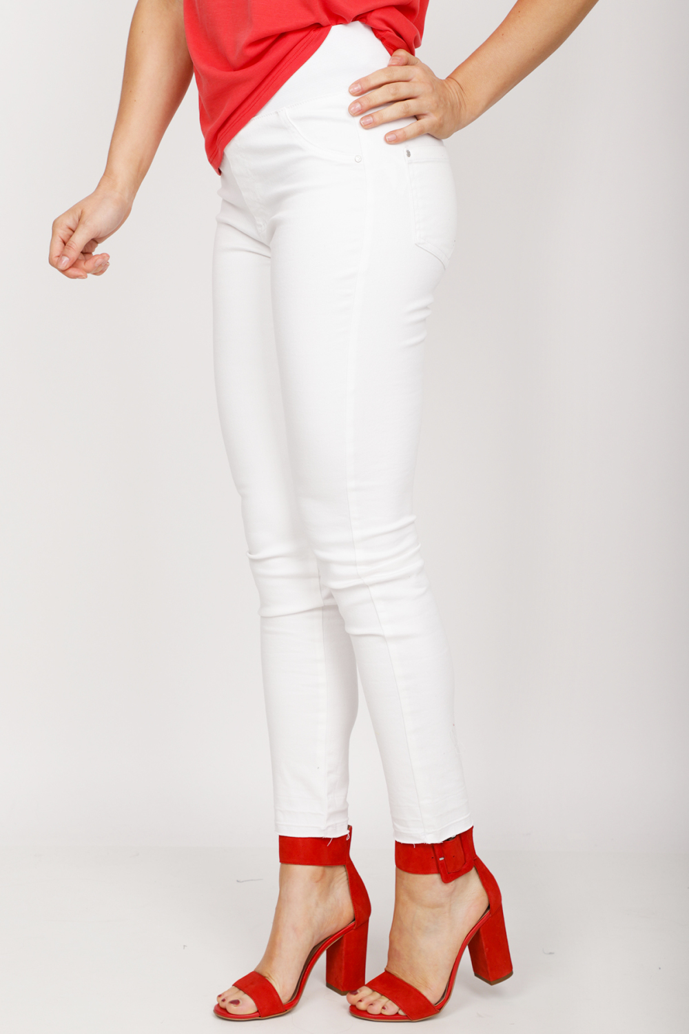Freequent Broek Wit Shantal-Ankle-PA-Raw