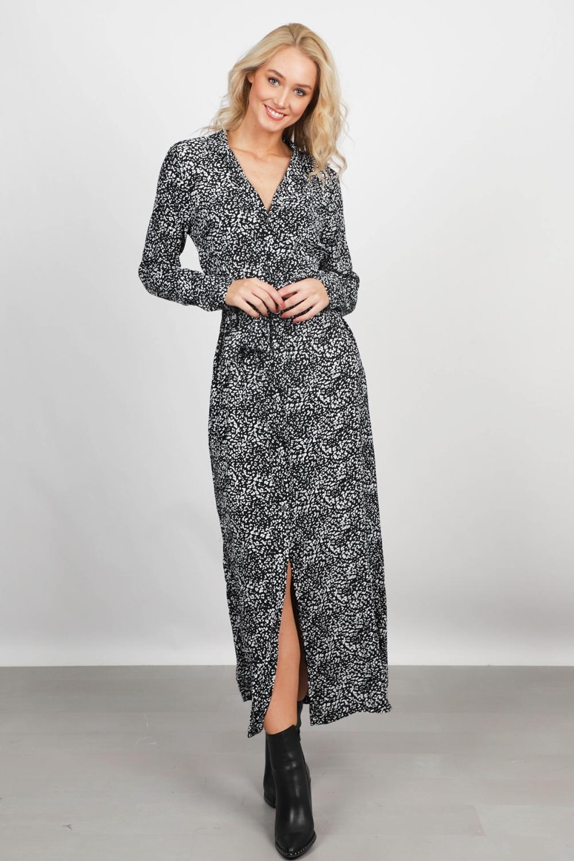 Freebird Maxi-jurken Zwart Vikas