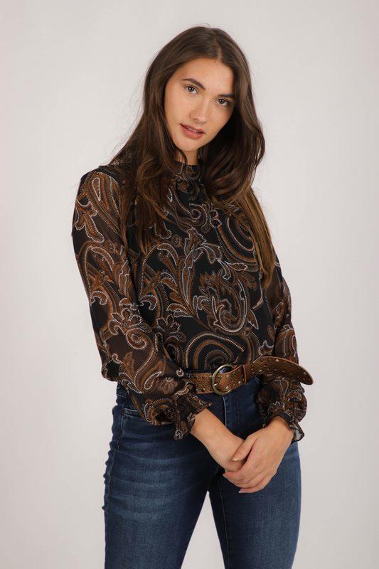 Geisha Shirt / Top Cognac 03669-20