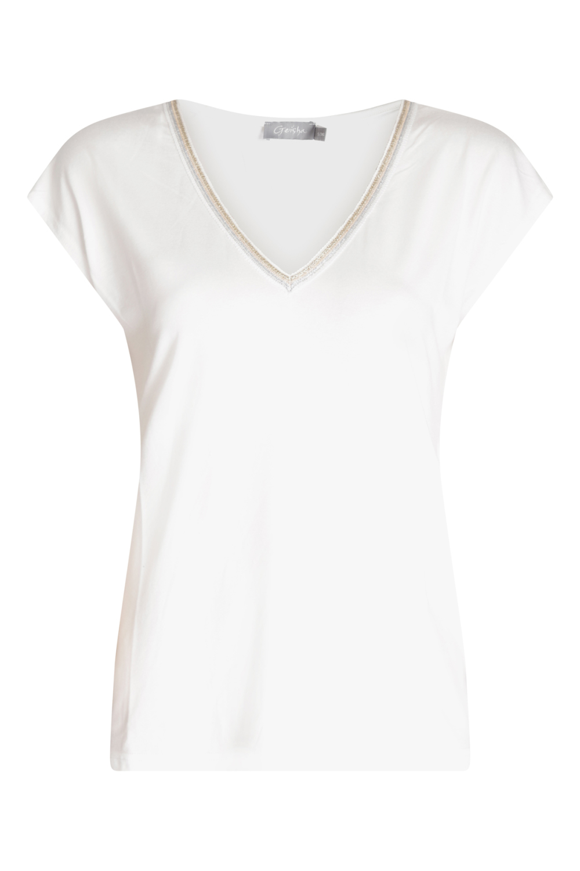 Geisha Shirt / Top Wit 03447-20