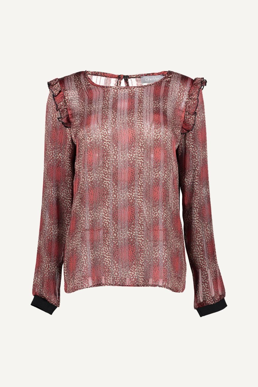 Geisha Shirt / Top Wit 03667-20