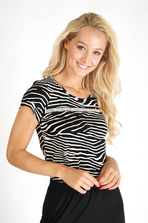 Geisha Shirt / Top Zwart 03452-20