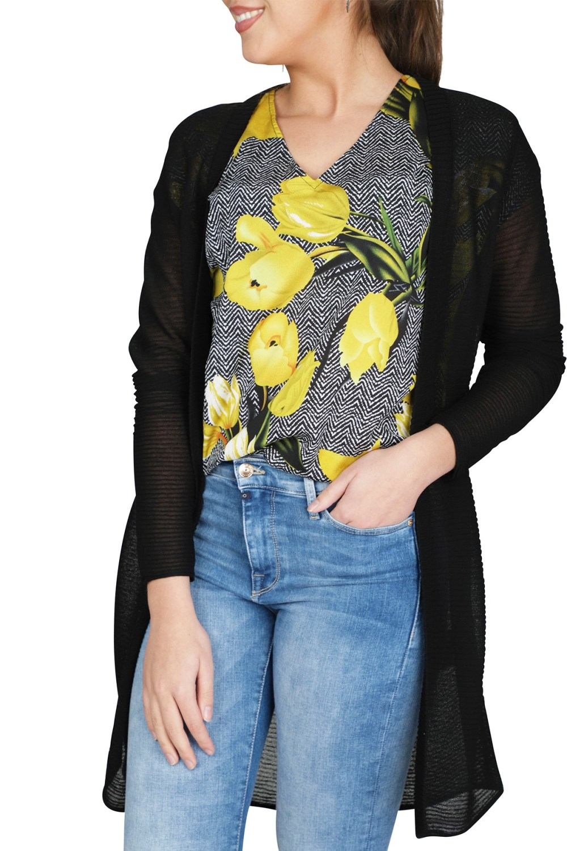 Geisha Vest Zwart 94005-10