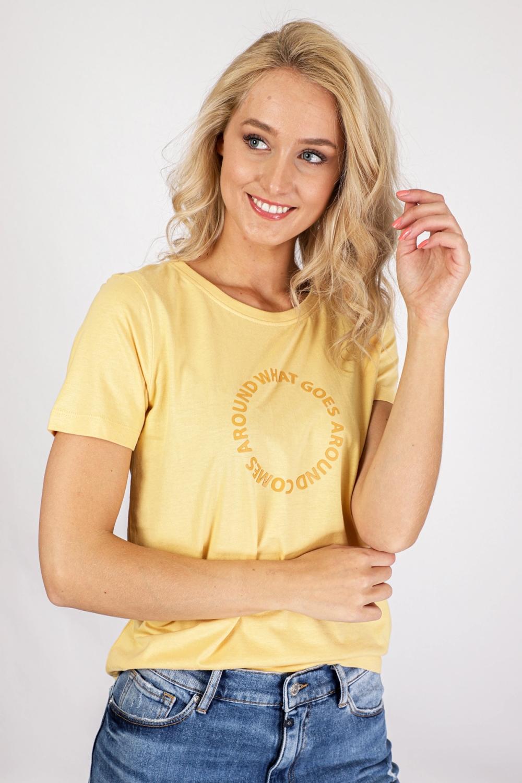 ICHI Shirt / Top Geel Ihregina SS