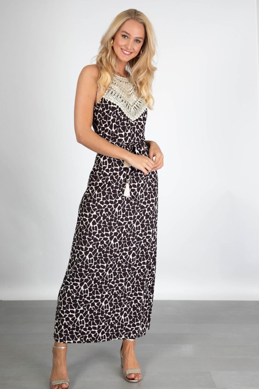 K-Design Maxi-jurken Dierenprint Q810