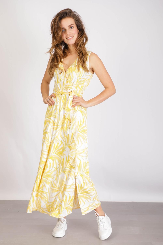 K-Design Maxi-jurken Geel Q854