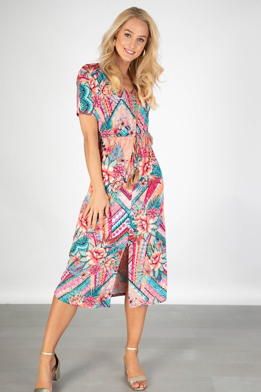 K-Design Maxi-jurk Multicolor Q881
