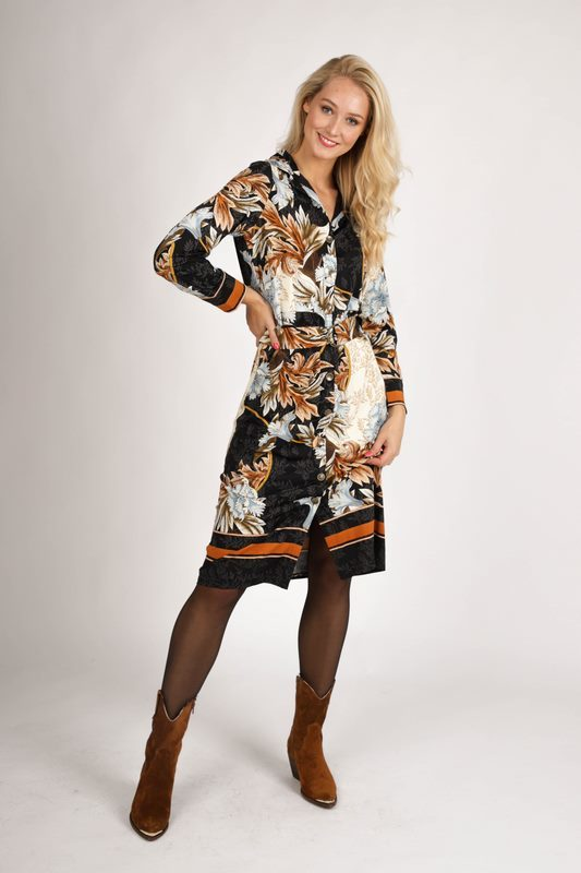 K-Design Maxi-jurken Multicolor R874