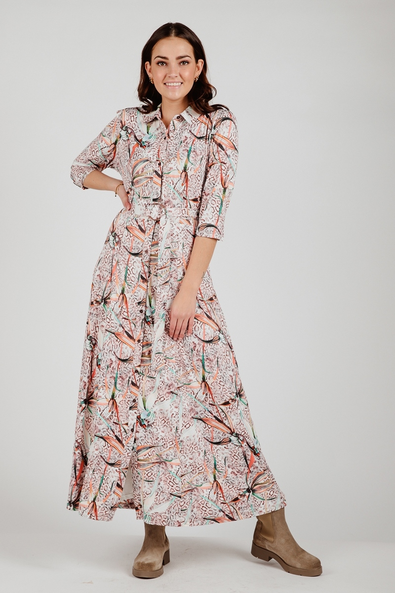 K-Design Maxi-jurk Multicolor S215