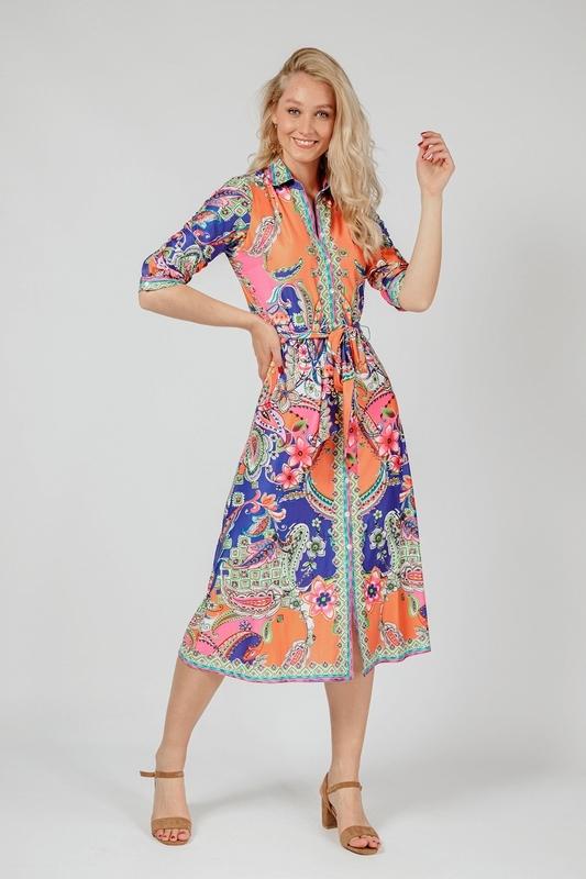 K-Design Maxi-jurk Multicolor S703