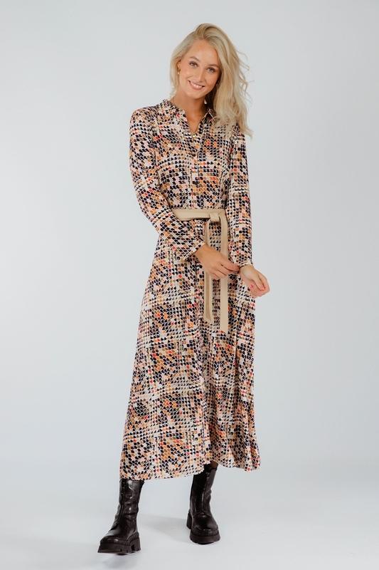 K-Design Midi-jurken Multicolor T213