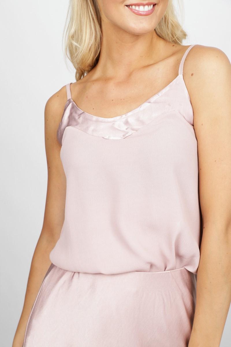 Le Ballon Shirt / Top Nude Silk Top