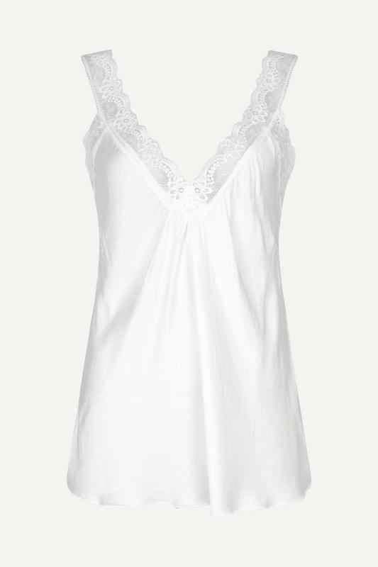 Le Ballon Shirt / Top Wit Hemdje satijn