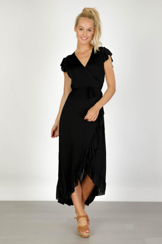 Le Ballon Maxi-jurken Zwart Wrap dress