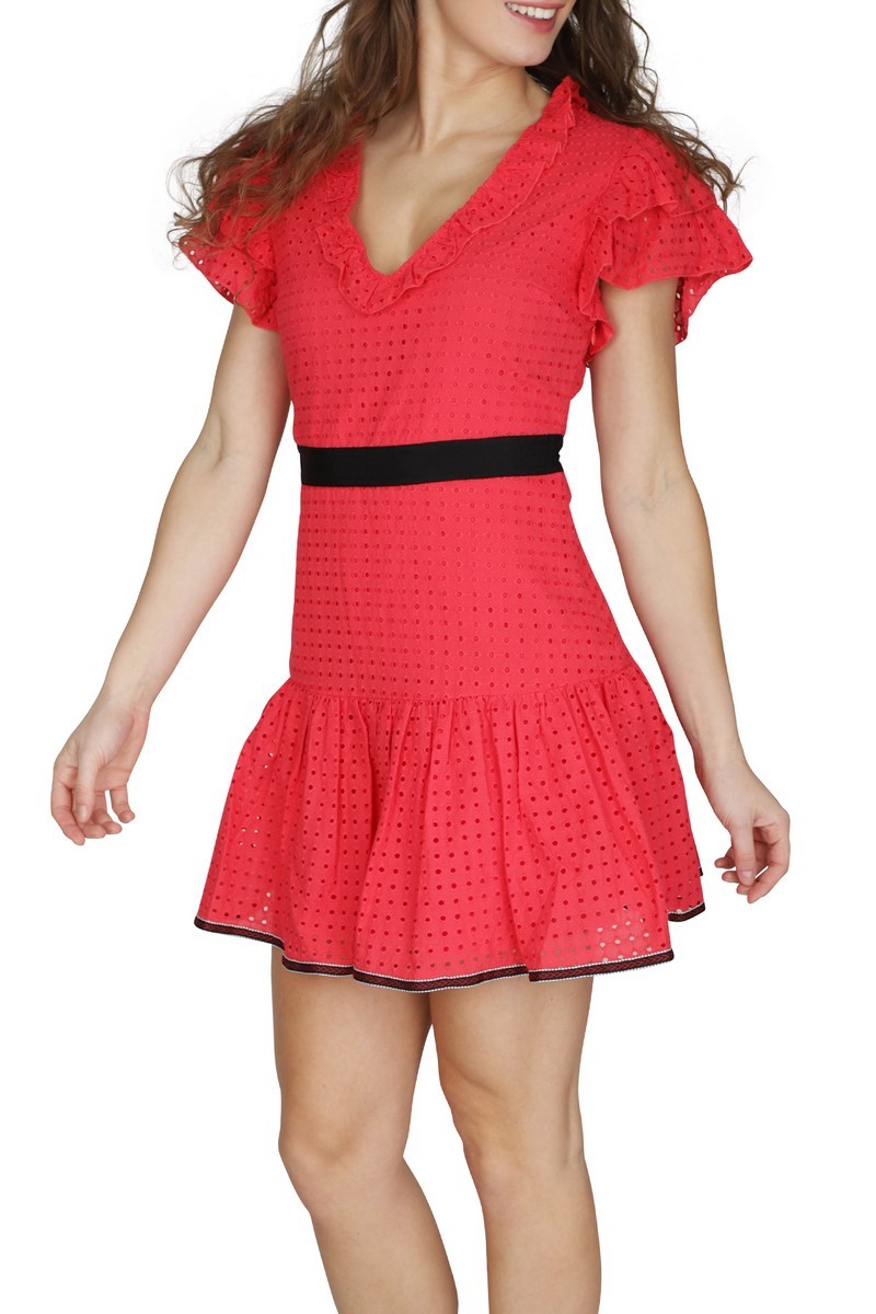 NIKKIE by Nikkie Plessen Jurk Rood Lyn Dress