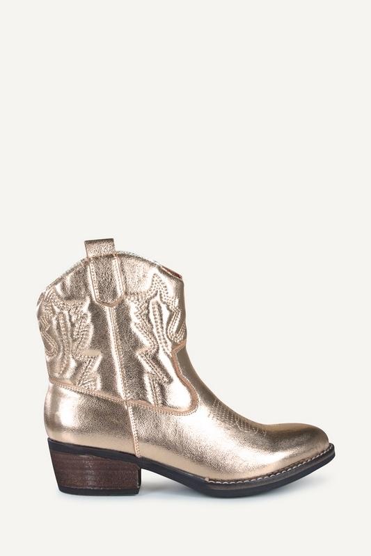 Poelman Cowboylaarzen plat Goud CLSHN9029-07APO
