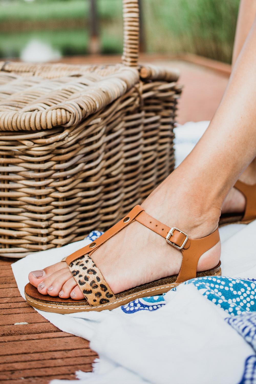 sandalen plat Cognac C0014 01APOE2