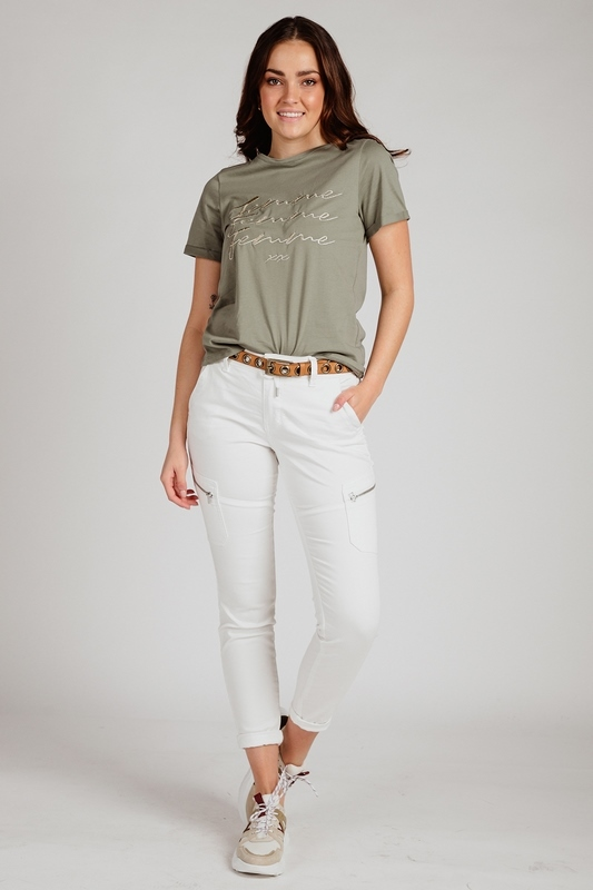 Red Button Broek Offwhite Combat