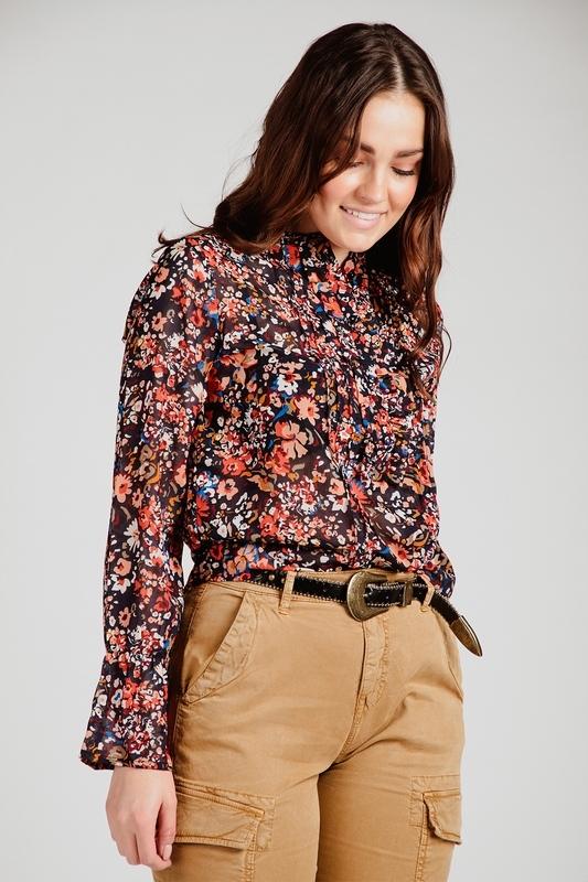 Saint Tropez Blouse Multicolor Edly shirt