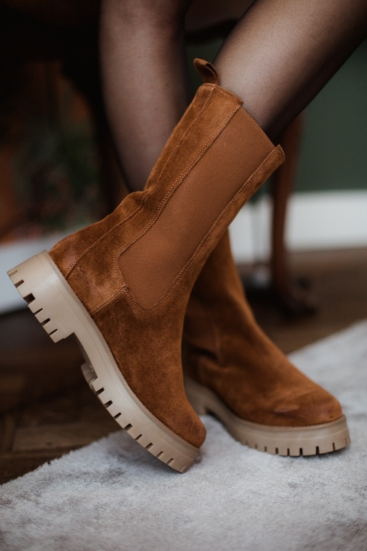 Shoecolate Chelsea boot Cognac 8.20.08.277