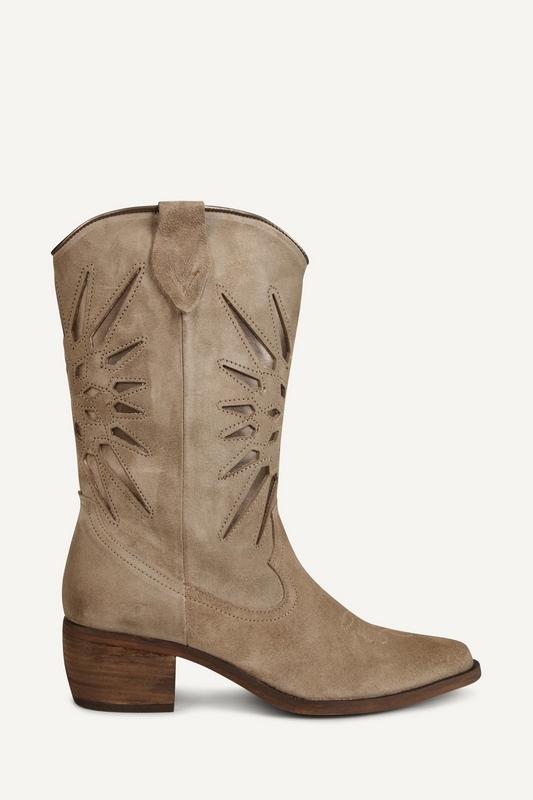 Shoecolate Cowboylaarzen plat Taupe 8.20.08.036