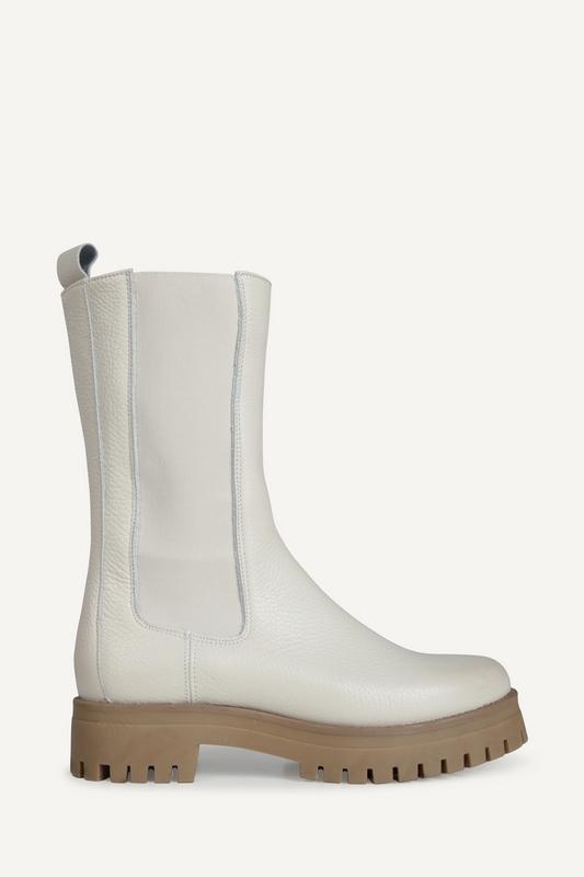 Shoecolate Platte laars Ecru 8.20.08.285