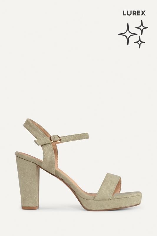 Shoecolate Sandaal hak Groen 1.11.01.012