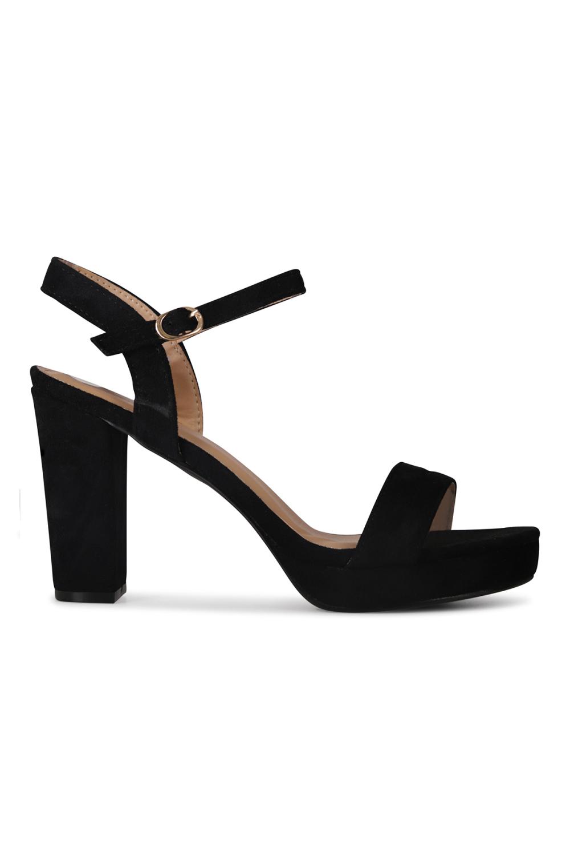 Shoecolate Sandaal hak Zwart 1.10.01.006